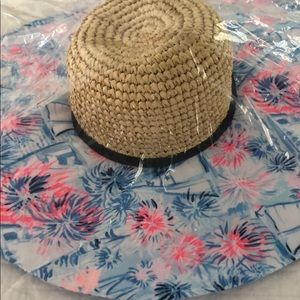 NWT Lilly Pulitzer sun hat with sparkles wicker